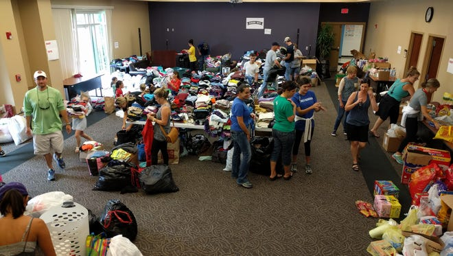 The Daily Advertiser invites displaced flood victims to come by the office to pick up clothing. We close at 5 p.m. Sunday and will resume at 8 a.m. Monday.