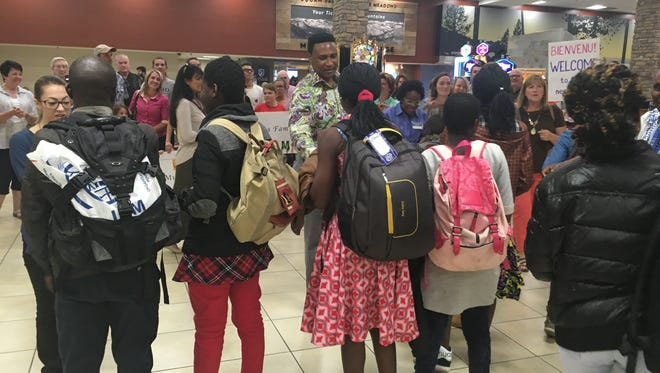 Two families from the Congo arrived Thursday. The families are part of a refugee resettlement program sponsored by the Northern Nevada International Center.