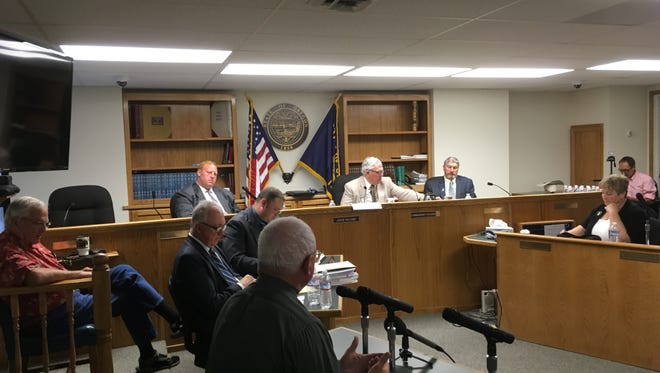 A public meeting is held at the Crook County Court in Prineville, Ore, Tuesday, Aug. 30, 2016, on a proposed plan to give them more leverage in deciding how federal lands in the county should be managed.