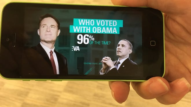 An ad paid for by a super PAC trying to keep GOP control of the Senate accuses  Democrat Evan Bayh of having voted with Obama most of the time.
