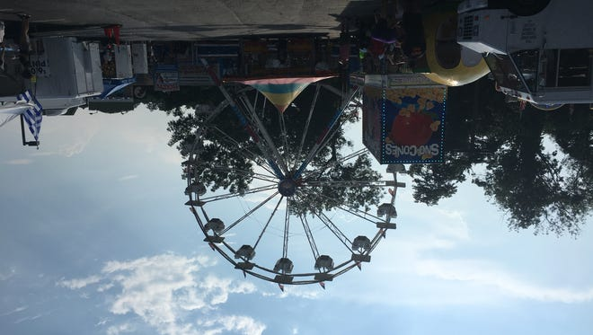 There were 10 rides at the Greek Festival, including a ferris wheel.