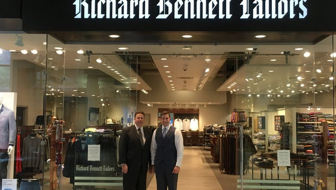 Men's apparel retailer Richard Bennett Tailors has moved from Mayfair to Brookfield Square. David Miller, left, and son Matt are the second and third generation of Millers in the business.