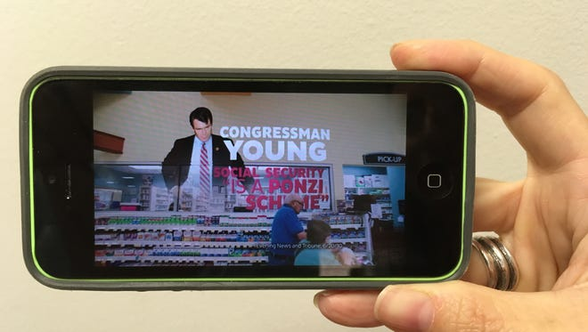 A new ad from paid for by a super PAC devoted to electing Democrats to the Senate is attacking Republican Todd Young over Social Security.
