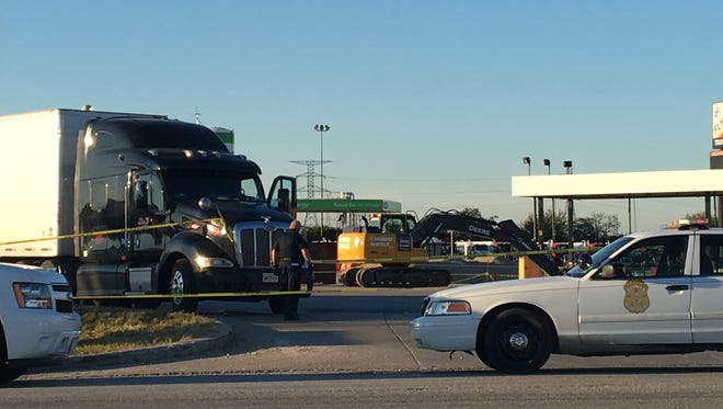 Police are investigating a fatal accident involving a semi truck and a motorcycle.