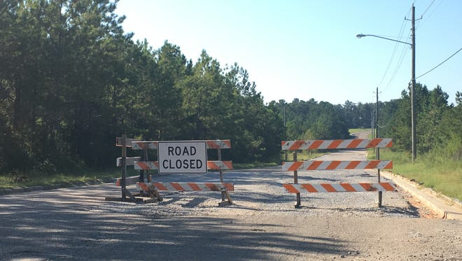 A portion of Lamar Boulevard is closed while the city completes repairs.