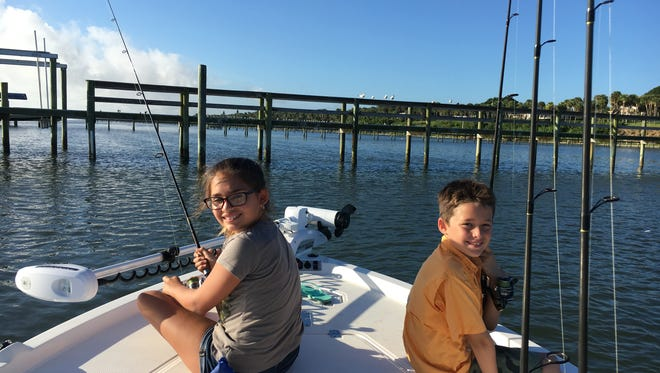 Grandkids Chloe and Brody want Captain Charlie to help them catch dinner!