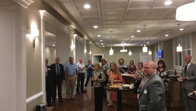 South Carolina Arts Alliance board members attend a welcoming reception at the Younts Center for Performing Arts in Fountain Inn.