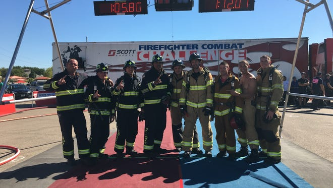 The Carlsbad Fire Department competed in the 25th annual Firefighter Combat Challenge over the weekend.