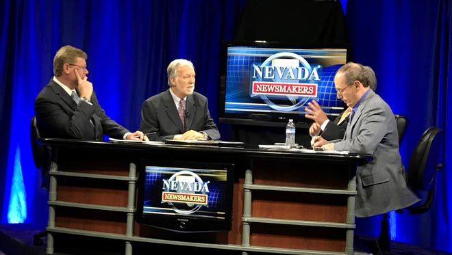 U.S. Rep. Mark Amodei, R-Nev., faces Democratic challenger Chip Evans during a debate on political affairs show Nevada Newsmakers.