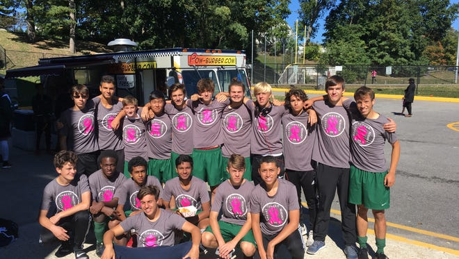 The Spackenkill High School boys soccer team poses after defeating Bronxville 1-0 at the annual Section 1 vs. Section 9 Challenge in Mamaroneck.