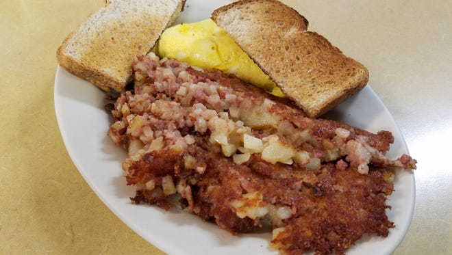 Corned beef hash from Bill's Corner Café in Sheboygan.