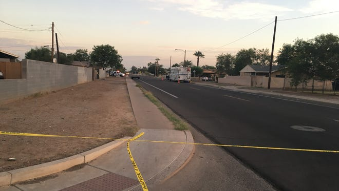 Two people were found dead in the early morning of Oct. 24, 2016, after reports of a car hitting a wall in an east-central Phoenix neighborhood near 31st and Pierce streets, just north of Van Buren Street.