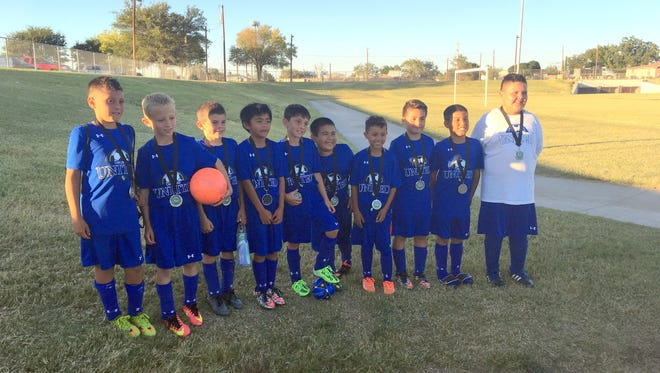 The Carlsbad United U10 boys soccer team, pictured here, took second place overall at a tournament this past weekend in Hobbs.