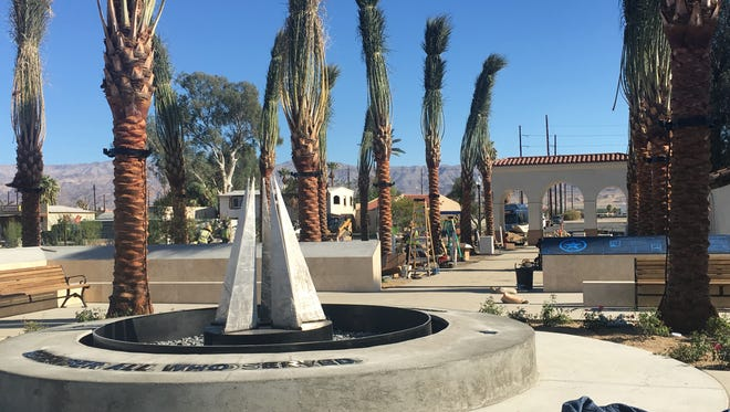 Coachella's revamped Veteran's Memorial Park will be opened to the public on Nov. 6.