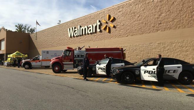 Beyond the Badge hosted their first food drive Saturday at Walmart on Vann Drive and South Highland.