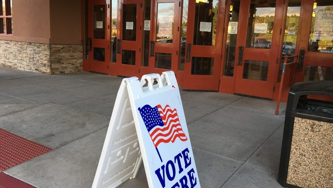 The Ruidoso Convention Center was set up for heavier than usual turnout Tuesday.
