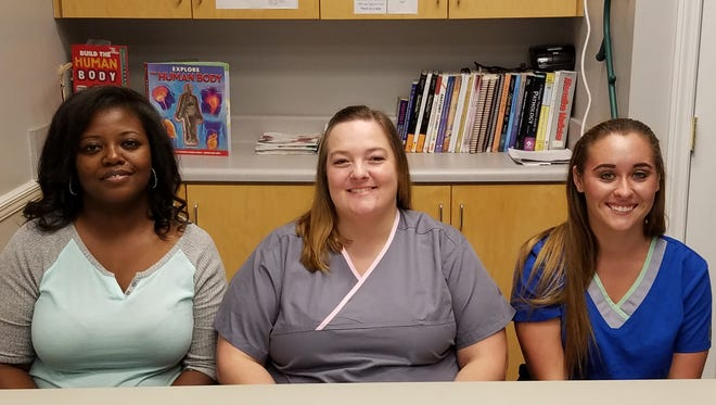 Clavette Donnell of Tallahassee, Ashley Morrison of Cottondale and Lindsay Erbacher of Marianna have completed the 600 Hour Massage Therapy Program.