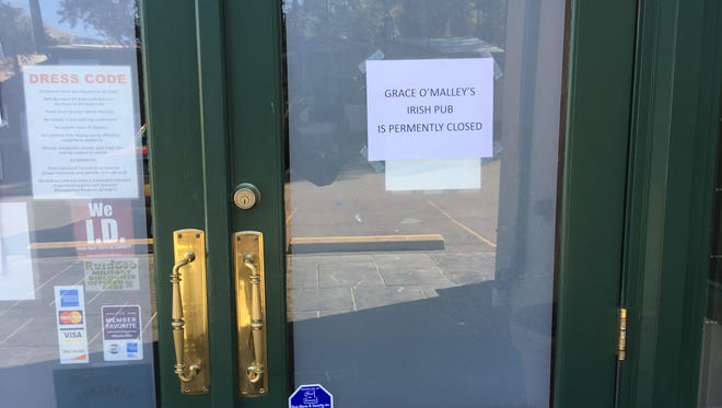 This sign on the door and the empty parking lot at lunch time told thirsty customers all they needed to know. Grace's is closed.