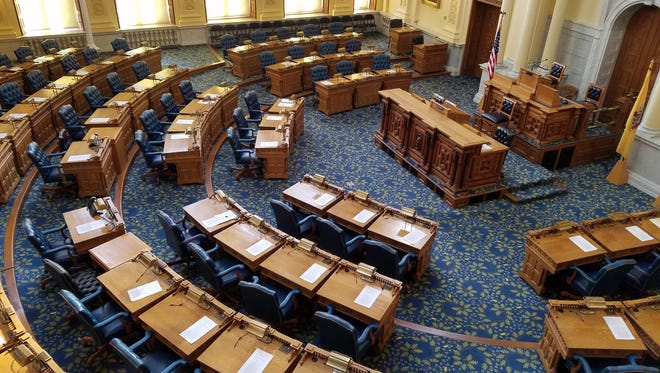 The Assembly Chamber at the State House in Trenton.