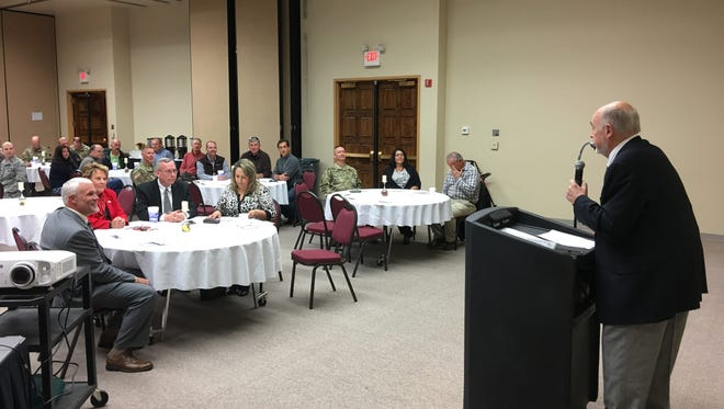 Ruidoso Mayor Tom Battin told guests from Holloman AFB and the White Sands Missile Range who attended the quarterly military-civilian forum Friday that they and their families are always welcome here.