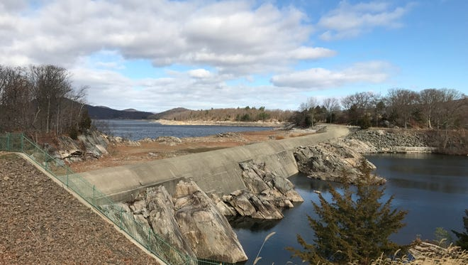 The Wanaque Reservoir in Wanaque, N.J. pictured Nov. 22, 2016 is currently at about 48 percent capacity.