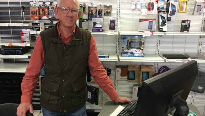 James Stephens and his wife, Donna, decided to close their Radio Shack franchise here when someone offered to buy their building on Sudderth Drive.