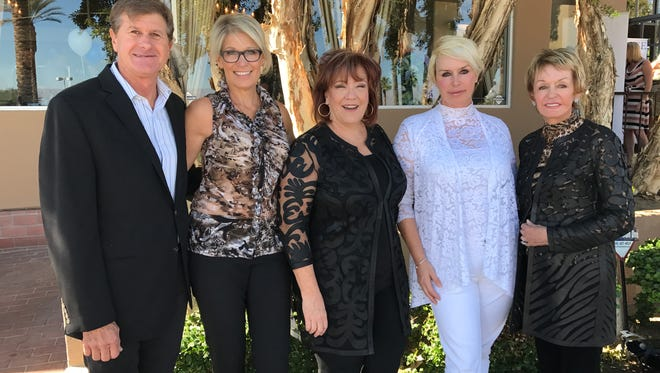 Helping to host the event benefiting the Palm Springs Police Officers' Association Memorial Fund were Michael Botelo, Nicole Botelo, Susan Stauber, , Kelly Gray and Marie Gray.