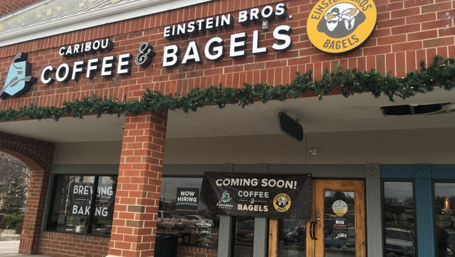 A Coffee & Bagels store featuring Caribou Coffee and Einstein Bros. Bagels in Milwaukee. Reno's Einstein Bros' store will adopt a similar concept and start offering Caribou Coffee on Aug. 29, 2018.