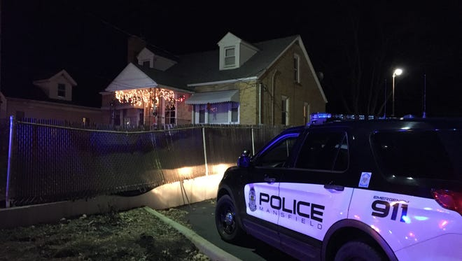 Mansfield police respond to a stabbing in the 900 block of South Main Street on Thursday,