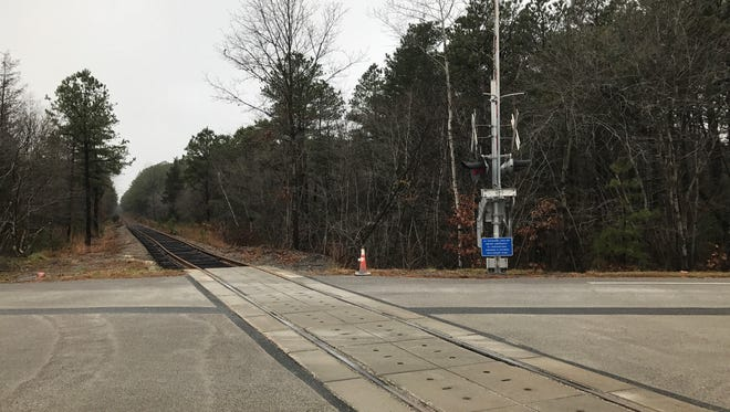 "A 13-mile stretch of the old ""Blue Comet"" rail line is being restored in the Pine Barrens of Ocean County to operate freight service between Lakehurst and Woodland Township in Burlington County."