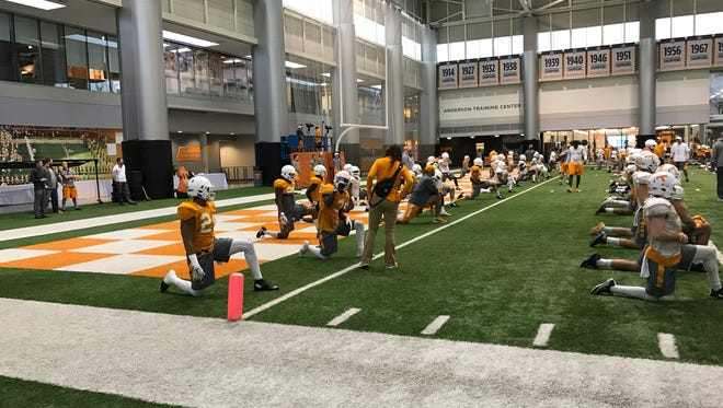 The Tennessee football team returned to practice on Monday to begin preparing for its Music City bowl game against Nebraska on Dec. 30.