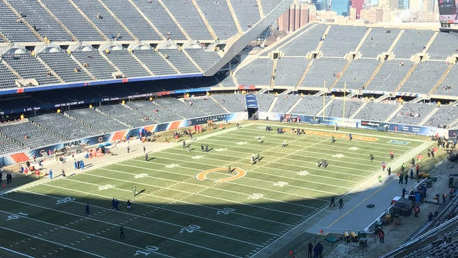 Soldier Field before the Packers-Bears game