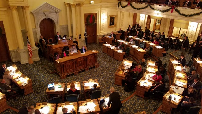 The Assembly in session Monday.
