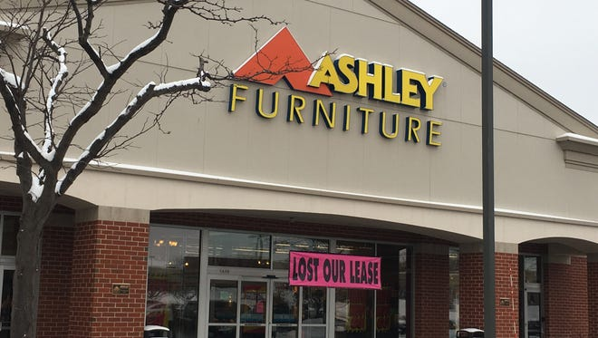 The Ashley Furniture store at 16300 W. Blue Mound Road in Brookfield, open since 2011, lost its lease.