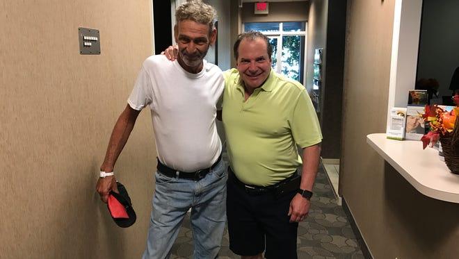 Dr. Jonathan Frantz with William.