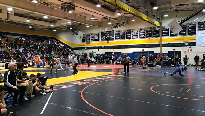 Wrestlers have taken the mat at Hackensack High School for the BCCA wrestling tournament.