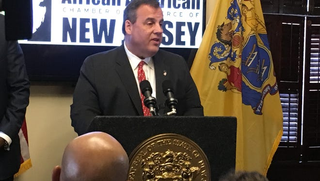 Governor Christie at a bill signing Wednesday in Trenton.