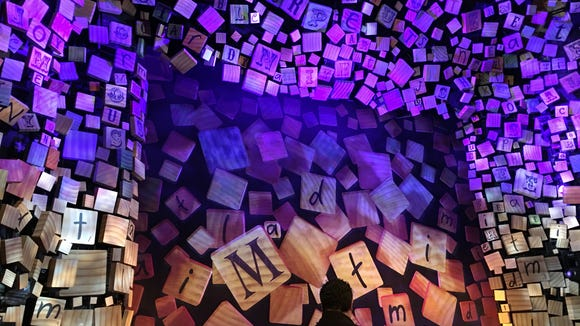 """The stage decoration before the show starts at """"Matilda"""