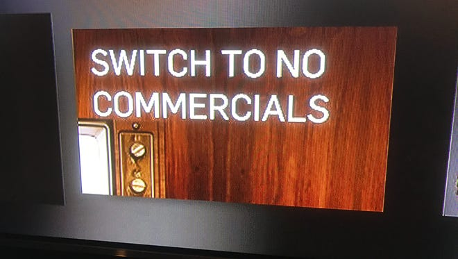 "Hulu's ""Switch to No Commercials"" slide"