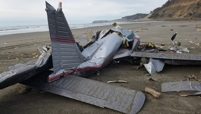 A man died when this plane crashed on the beach Friday.