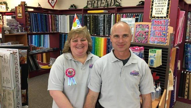 The couple were looking for a small town with a love of quilting and a climate warmer than Alaska but cooler than Arizona. They already feel at home.
