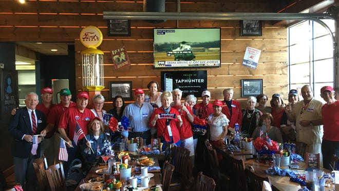 About 30 members of Conservatives Only, a closed Facebook group, held a watch part of President Trump's inauguration at Ford's Garage in Estero.