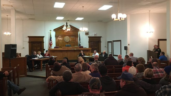 Residents pack Fiscal Court meeting to hear about the dire straights of Grant County.