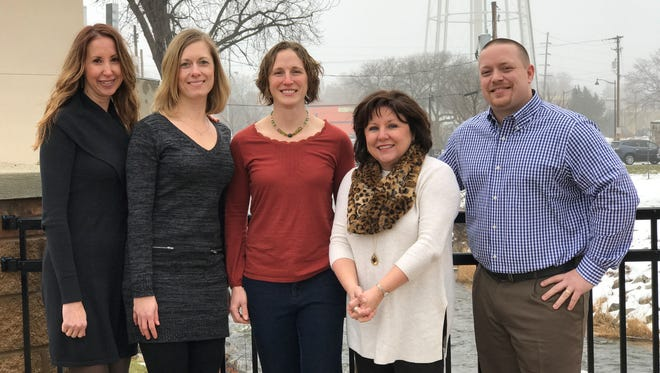 Members of the Blue Zones Project-Dodge County. Pictured are, from left: Tracy Rose, Melody Masteller, Janelle Weibelhaus-Finger, Leslie Covell Hershberger and Keith Hill.