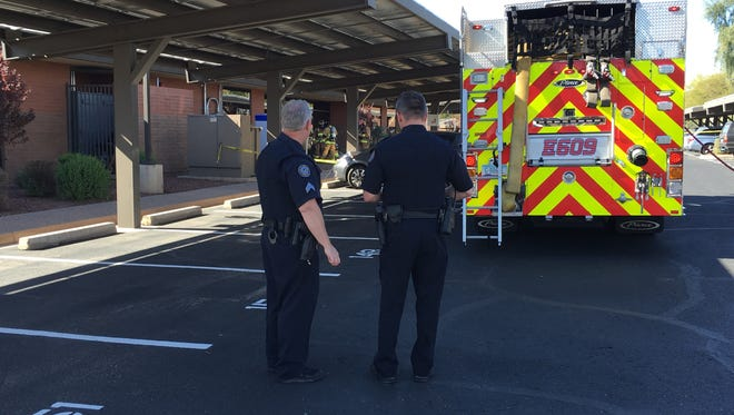 Crews work to isolate a suspicious powder delivered to a conservative non-profit legal organization in Scottsdale
