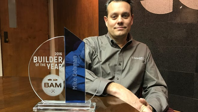 W. Gohman Construction owner Michael Gohman was recently named the 2016 Builder of the Year by the Builders Association of Minnesota.