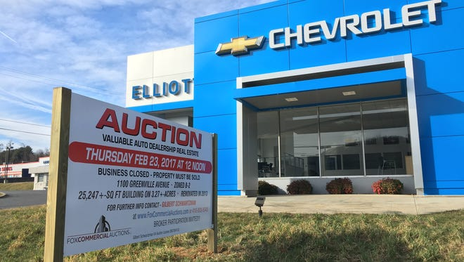Elliott Auto on Greenville Avenue will go up for auction on Feb. 23 at noon.