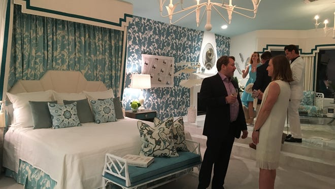 The master bedroom at Villa Golightly in Palm Springs, the Christopher Kennedy Compound show home part of Modernism Week. (Feb. 2017)