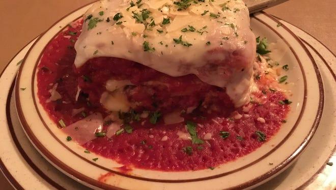 Lasagna from Ferrante's Restaurant.