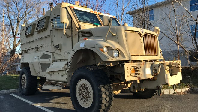 The Belleville Police Department intends to sell its mine resistant ambush protected vehicle (MRAP) that was acquired through military surplus.